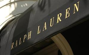 The Polo Ralph Lauren logo is seen on their boutique on Rodeo Drive in Beverly Hills
