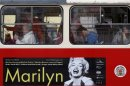 A poster advertising an upcoming Marilyn Monroe exhibition is seen on a tram in, Prague, Czech Republic, Wednesday, May 22, 2013. THE CANADIAN PRESS/AP, Petr David Josek