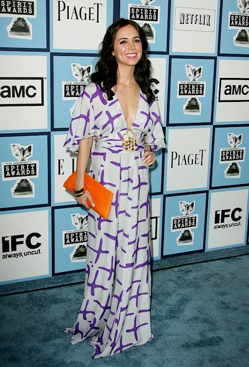Eliza Dushku arrives at Film Independent's 2008 Independent Spirit Awards sponsored by Piaget at the Santa Monica Pier on February 23, 2008 in Santa Monica, California.