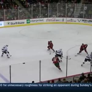 Darcy Kuemper Save on Dustin Brown (03:20/1st)
