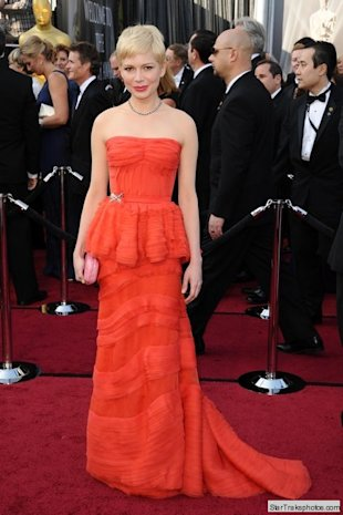 michelle williams oscar 2012