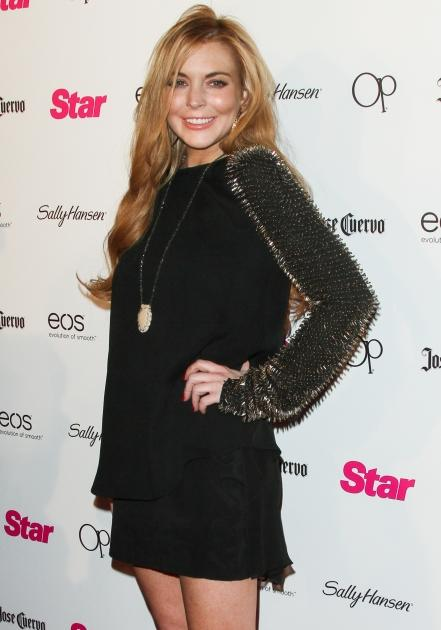 Lindsay Lohan steps out at Star Magazine's 'All Hollywood' event at AV Nightclub in Hollywood, Calif. on April 24, 2012 -- Getty Premium