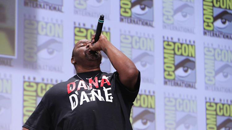 Biz Markie seen at Twentieth Century Fox Panel at 2014 Comic-Con on Friday, July 25, 2014, in San Diego, Calif. (Photo by Eric Charbonneau/Invision for Twentieth Century Fox/AP Images)