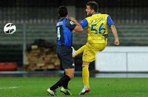 Chievo 0-2 Inter: Pereira and Cassano earn away win for Stramaccioni's side