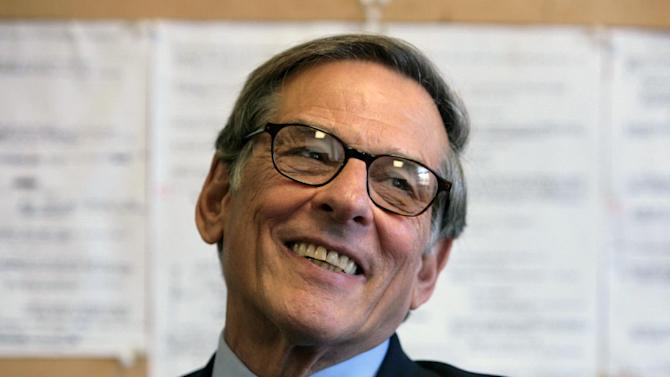 "FILE - In this Aug. 20, 2008 file photo, author and biographer Robert Allan Caro is shown during an interview in New York. Caro received a nomination on Wednesday, Oct. 10, 2012 for a National Book Award for the fourth of his Lyndon Johnson books, ""The Passage of Power.""  The winners will be announced Nov. 14. (AP Photo/Bebeto Matthews, file)"