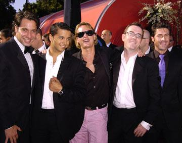 "Cast of ""Queer Eye For The Straight Guy"" Thom Filicia, Jai Rodriguez, Carson Kressley, Ted Allen, and Kyan Douglas 56th Annual Emmy Awards - 9/19/2004 Kyan Douglas"