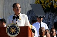 Philippine President Benigno Aquino delivers a speech in Manila in February 2012. A newspaper reporter covering Aquino is in a critical condition after a shooting incident in a Manila suburb, police and journalist groups said on Monday