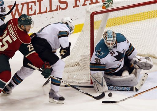 Cullen leads Wild past Sharks 5-4 in shootout