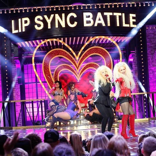 Hayden Panettiere heats up the stage with Christina Aguilera on 'Lip Sync Battle'