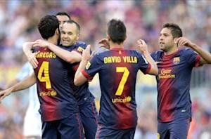 Barcelona 4-1 Malaga: Blaugrana blitz Boquerones to equal Liga points record