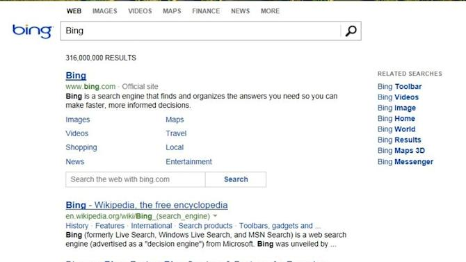 Microsoft's search engine Bing now has a 'fresh, de-cluttered' design