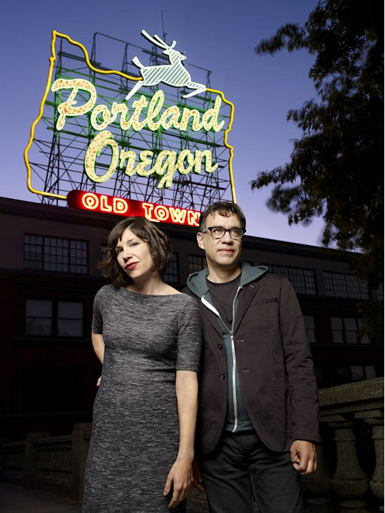 "Carrie Brownstein and Fred Armisen star in ""Portlandia."""