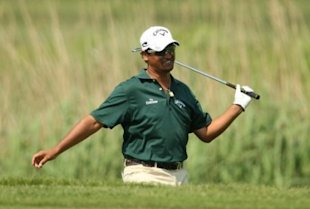 New Zealand's Michael Campbell during Round Two of the Celtic Manor Wales Open, at the Celtic Manor Resort