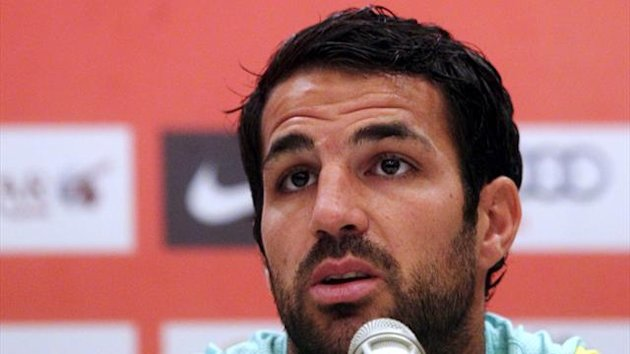Cesc Fabregas speaks during a news conference ahead of the team's friendly match against Malaysia XI (Reuters)