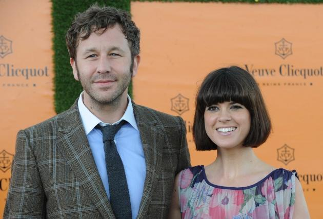 Chris O'Dowd and Dawn Porter attend the Veuve Clicquot Gold Cup Final at Cowdray Park Polo Club in Midhurst, England on July 15, 2012   -- Getty Images