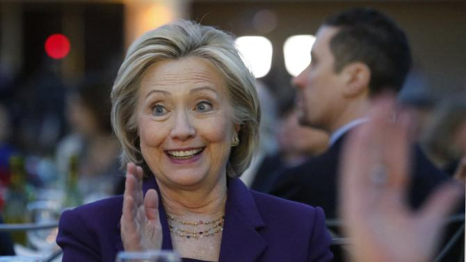 Former secretary of state Hillary Clinton attends the EMILY's List 30th Anniversary Gala