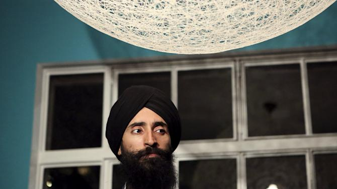 Actor and designer Waris Ahluwalia attends an interview with Reuters in Mexico City