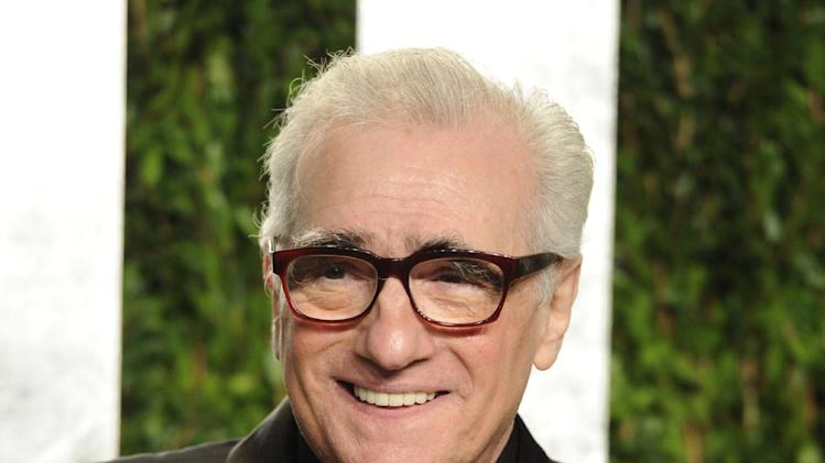 "FILE - This Feb. 26, 2012 file photo shows director Martin Scorsese at the Vanity Fair Oscar party in West Hollywood, Calif. In a statement Friday, March 29, 2013, the Oscar-winning director and Miramax studio said they're developing a TV series based on Scorsese's 2002 film ""Gangs of New York."" (AP Photo/Evan Agostini, file)"