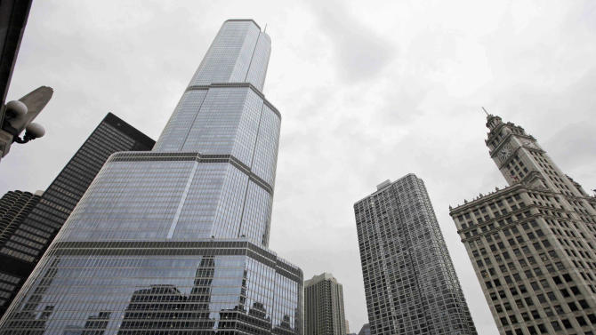 FILE -This Aug. 23, 2012 file photo, shows the Trump International Hotel & Tower, left, in downtown Chicago. On Thursday, May 23, 2013, jurors went into their second day of deliberations at a civil trial in Chicago where  Jacqueline Goldberg, 87, is alleging Donald Trump cheated her in a condominium deal. Goldberg is seeking damages totaling around $6 million. If jurors decide Trump defrauded Goldberg, they'll have to decide how much money to award her. (AP Photo/M. Spencer Green, File)