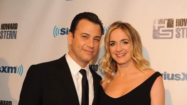 Jimmy Kimmel and Molly McNearney at SiriusXM's 'Howard Stern Birthday Bash' at Hammerstein Ballroom on January 31, 2014 in New York City -- Getty Images