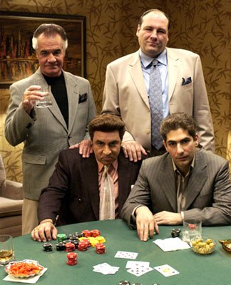 Tony Sirico, James Gandolfini, Michael Imperioli and Steven Van Zandt HBO's The Sopranos