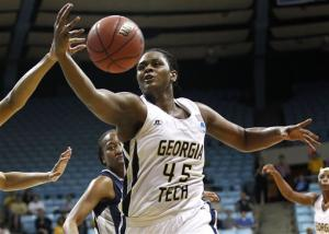 Ga Tech women beat Georgetown 76-64 in 2nd round