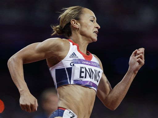 Britain's Ennis stays strong in Olympic heptathlon