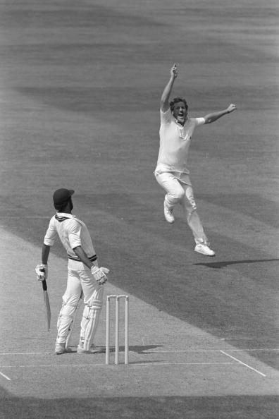 Aug 1984:  Ian Botham collects his 300th Test wicket as Jeff Dujon is caught by Chris Tavare in the slips.  England v West Indies 5th Test at The Oval.                                              Man
