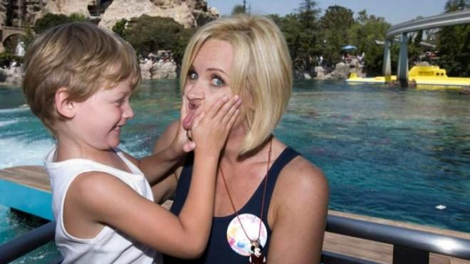 Jenny McCarthy, pictured in 2007 with her son, has reportedly said she believes her boy has outgrown autism.