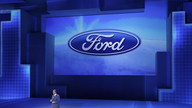 FILE - In this Monday, Jan. 13, 2014, file photo, Ford Motor Co., Executive Chairman Bill Ford addresses the media at the North American International Auto Show in Detroit. Ford reports quarterly earnings on Tuesday, Jan. 28, 2014. (AP Photo/Carlos Osorio, File)