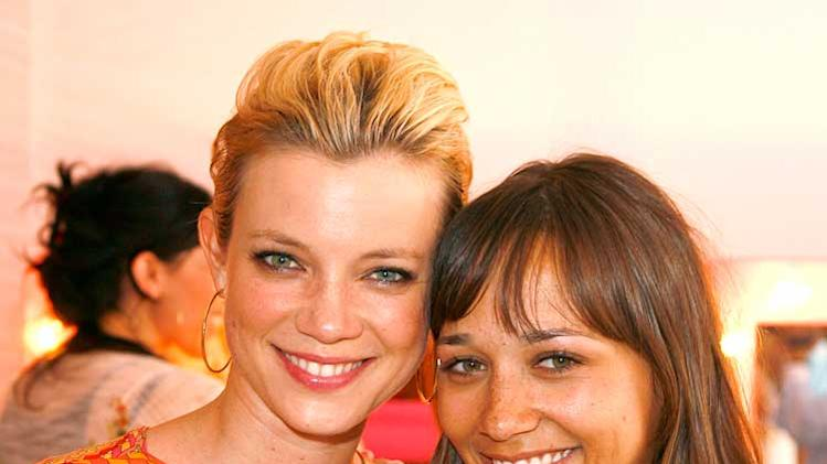 Amy Smart and Rashida Jones at the Disney Coutour Party hosted by Kidada Jones.