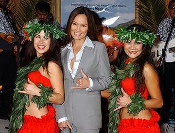 Tia Carrere at the LA premiere of Columbia's 50 First Dates
