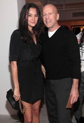 Bruce Willis and wife Emma Heming attend the Corduroy Magazine launch and exhibition at Milk Gallery on in New York City June 10, 2010  -- Getty Images