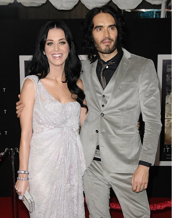 The Tempest 2010 LA Premiere Katy Perry Russell Brand