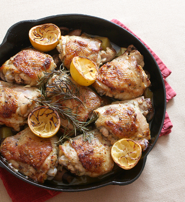 Cast Iron Chicken with Lemon and Rosemary