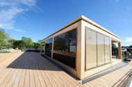 The solar house of the German university of Konstanz is displayed in Madrid on September 13, 2012 during The Solar Decathlon Europe competition