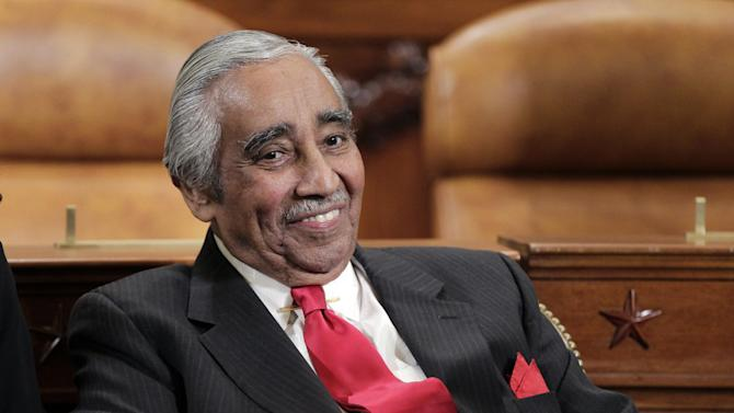 FILE - In this Sept. 22, 2011 file photo, Rep. Charlie Rangel, D-N.Y. smiles on Capitol Hill in Washington. For two decades, Eddie Bernice Johnson has been an outspoken voice for Democrats in a bright blazer and multicolored scarf. But for the first time, the first black woman to represent North Texas in Congress is facing serious opposition in this month's primary. And the effort to unseat her is just one of several challenges being mounted against some of the longest-serving blacks in Congress. (AP Photo/J. Scott Applewhite, File)