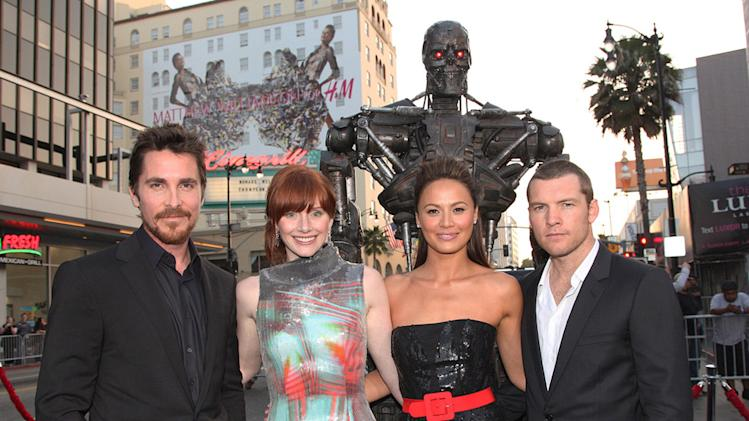 Terminator Salvation LA Premiere 2009 Christian Bale Bryce Dallas Howard moon Bloodgood Sam Worthington
