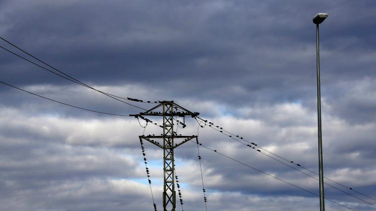 Migratory birds, headed towards Africa, perch on electrical cables in Cambrils near Tarragona