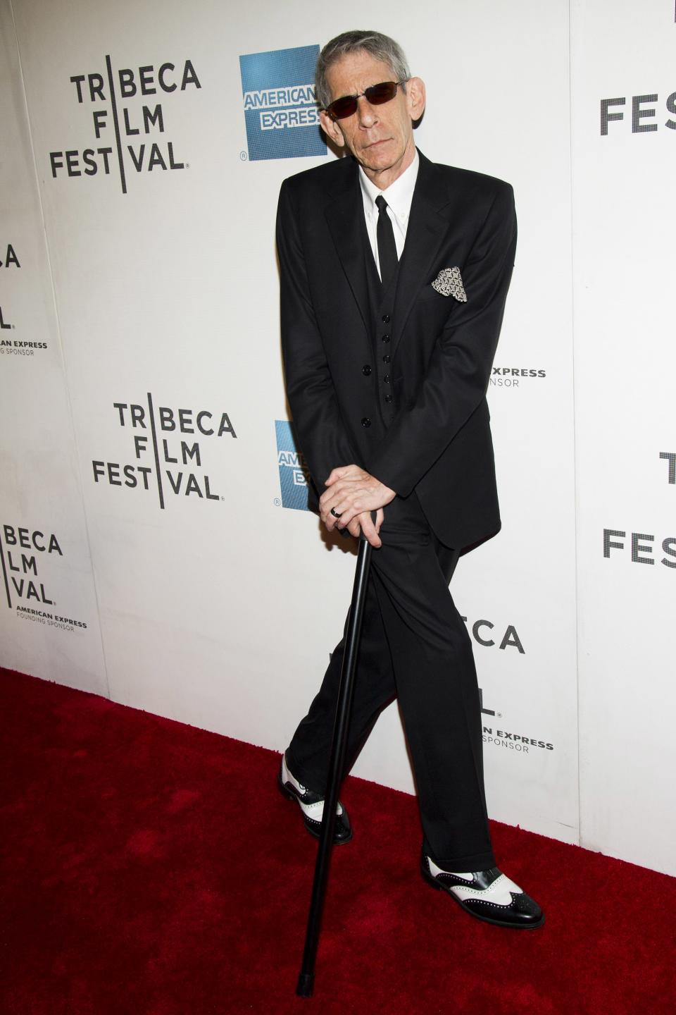 "Richard Belzer attends the premiere of ""Mistaken For Strangers"" during the opening night of the 2013 Tribeca Film Festival on Wednesday April 17, 2013 in New York. (Photo by Charles Sykes/Invision/AP)"