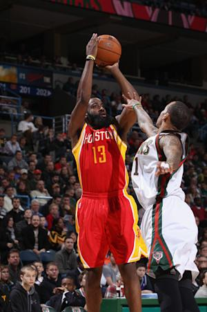 Harden's 29 lead Rockets over Bucks, 115-101