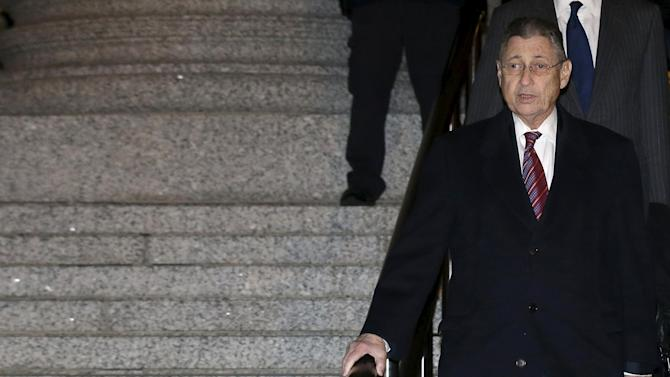 Former New York State Assembly Speaker Sheldon Silver leaves a courthouse in New York
