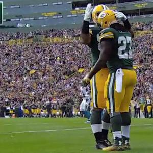 Green Bay Packers running back Eddie Lacy 5-yard touchdown run
