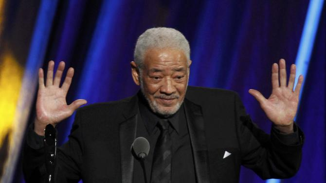 Musician Bill Withers speaks as he is inducted during the 2015 Rock and Roll Hall of Fame Induction Ceremony in Cleveland