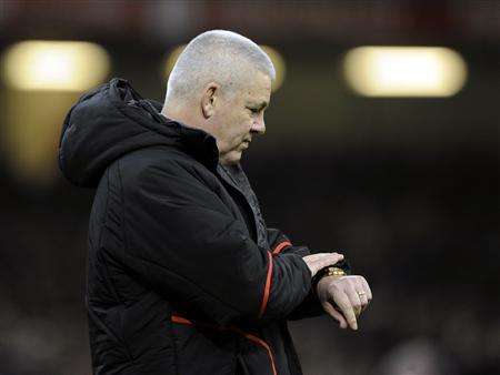 Wales' head coach Gatland before international rugby union match against New Zealand at the Millennium Stadium in Cardiff