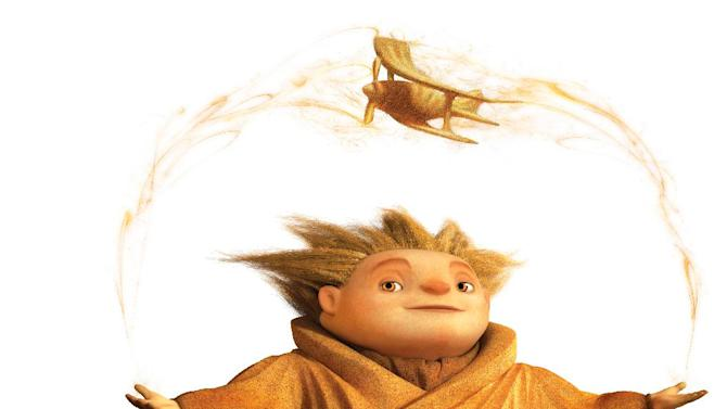 """This composite released by DreamWorks Animation shows the character Sandman from the """"Rise of the Guardians,"""" a 3-D computer-generated fantasy tale based on William Joyce's book series, """"The Guardians of Childhood."""" (AP Photo/DreamWorks Animation)"""