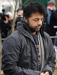 Shrien Dewani arrives at Belmarsh Magistrates' Court in London on February 24, 2011. A man convicted of murdering his wife Anni Dewani during their honeymoon in South Africa two years ago has been sentenced to life in prison