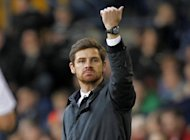 Chelsea's former manager Andre Villas-Boas gestures during a match in March. Now manager of Spurs, Villas Boas's bitterness at his sacking by Chelsea last season surfaced again on Sunday as he said at his new club they did not seek out scapegoats if they were going through a bad patch