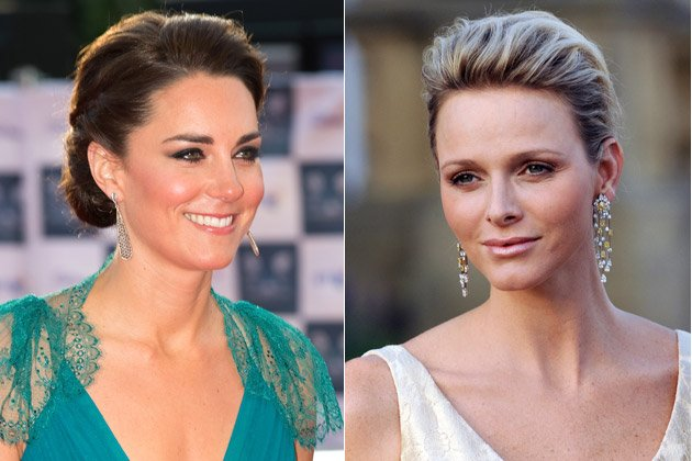 Glamour im Doppelpack: Kronprinzessin Kate (l.) und F&#xfc;rstin Charlene (Bilder: Getty Images)