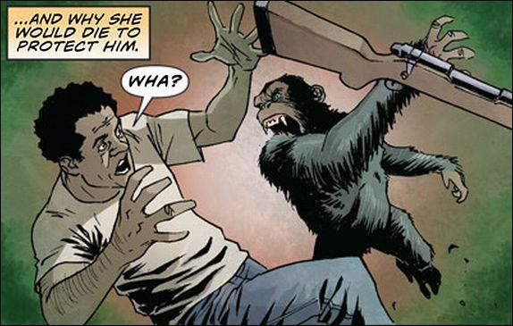 "Art from ""Rise of the Planet of the Apes"" digital prequel comic."